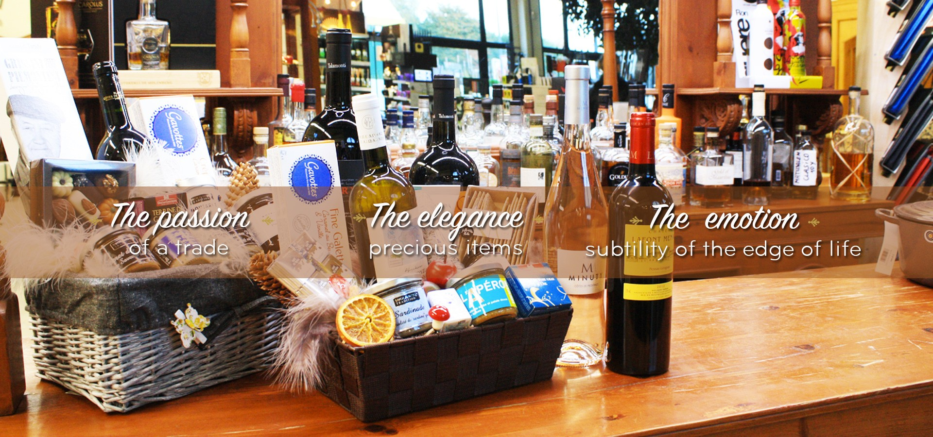 The Source - Wines and spirits - Delicacies - Tableware